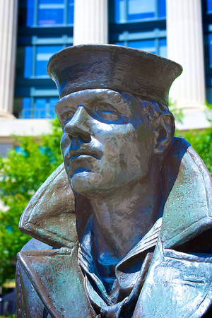 Face of Navy Sailor Statue