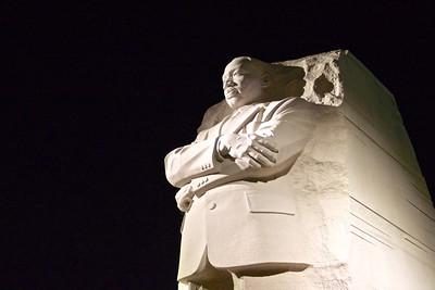 Martin Luther King Jr. Memorial at Night