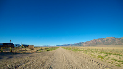 Gravel Road in Nevada Desert