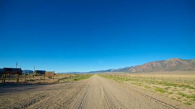 Gravel Road in Nevada Desert