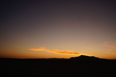 Sunset in the Mojave