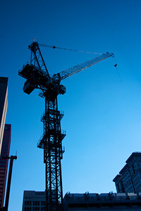 Silhouette of Tower Crane