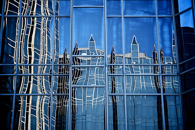 Reflection in Wall of Glass and Steel