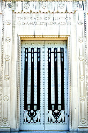 Doors of the Department of Justice