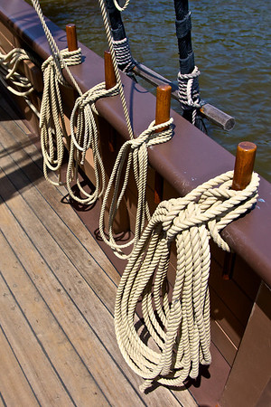 Ropes on Ship Side