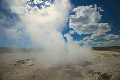 Steam from Hot Spring