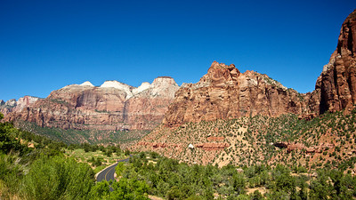 Road Winds Through Zion National Park