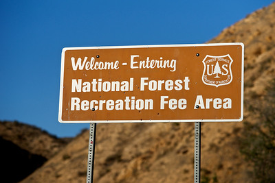 Welcome National Forest Sign