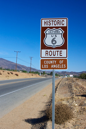 Vertical Sign for Historic Route 6