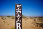 BLM Bureau of Land Management Road Marker