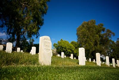 Broken Tombstone in National Cemetery