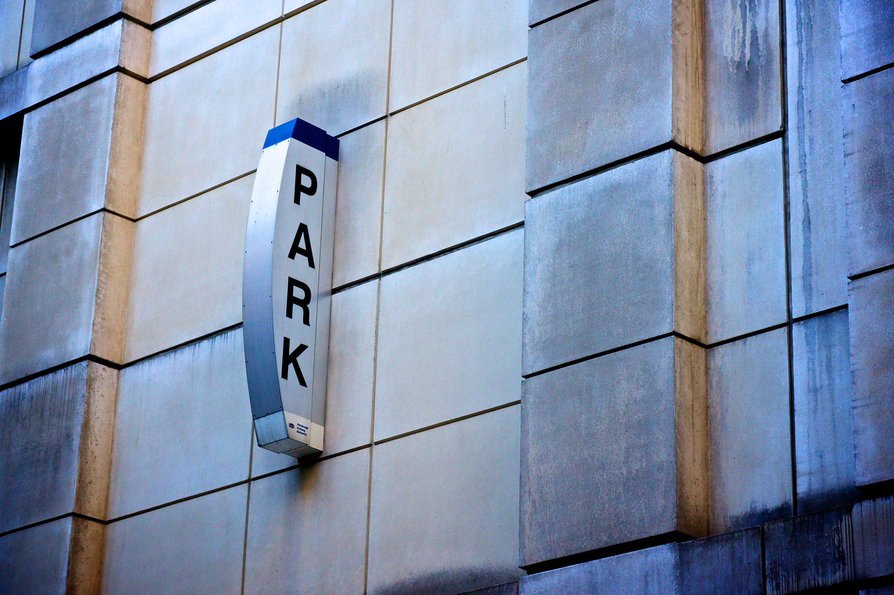 City Parking Sign